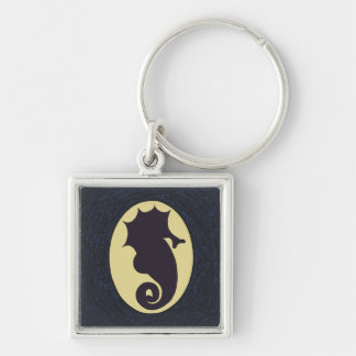 Seahorse Silhouette Keychain