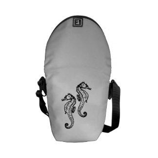 Seahorse Silver Courier Bags