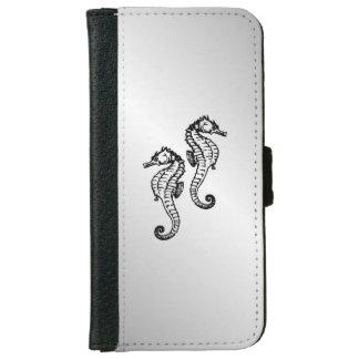 Seahorse Silver iPhone 6 Wallet Case
