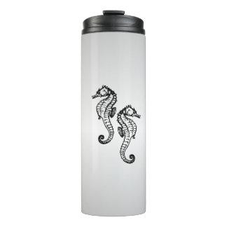 Seahorse Silver Thermal Tumbler