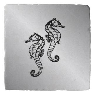 Seahorse Silver Trivet