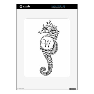 Seahorse Sketch Initialed Skin Skins For iPad