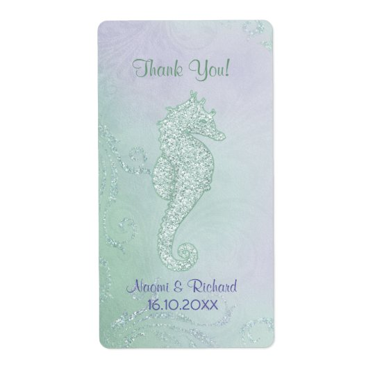 Seahorse Sparkle  -  Thank You Wine Label