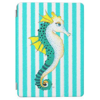 seahorse teal stripes iPad air cover