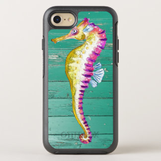 seahorse teal wood OtterBox symmetry iPhone 8/7 case