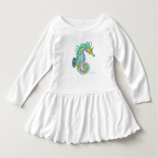 Seahorse Toddler Ruffle Dress