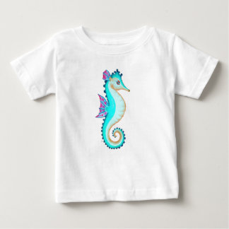 Seahorse Turquoise Baby T-Shirt