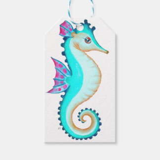 Seahorse Turquoise Gift Tags