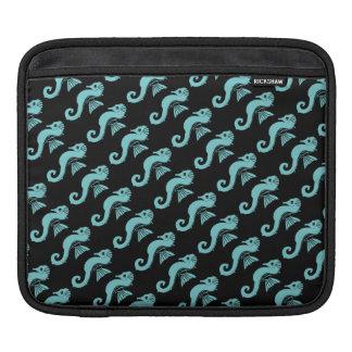 seahorse turquoise iPad sleeve
