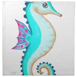 Seahorse Turquoise Napkin