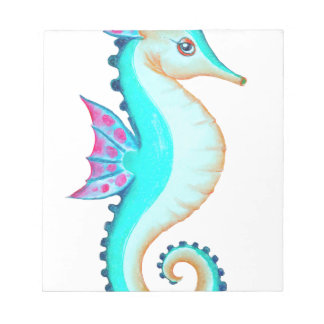 Seahorse Turquoise Notepad