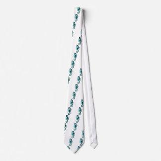 seahorse turquoise tie
