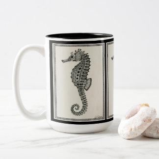 """Seahorse"" two-tone 15 oz. tall mug"