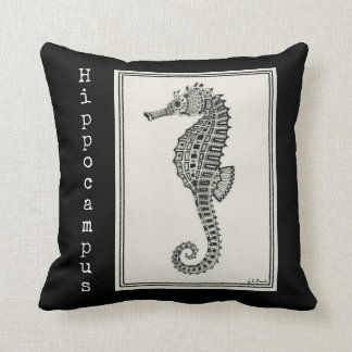 """""""Seahorse"""" two-tone accent pillow"""
