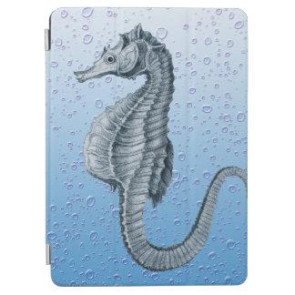 seahorse vintage bubbles iPad air cover