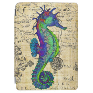 Seahorse Vintage Comic Map iPad Air Cover