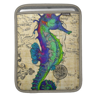Seahorse Vintage Comic Map iPad Sleeve