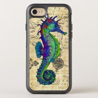 Seahorse Vintage Comic Map OtterBox Symmetry iPhone 8/7 Case