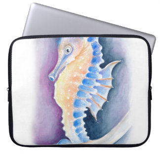 Seahorse Watercolor Art Laptop Sleeve