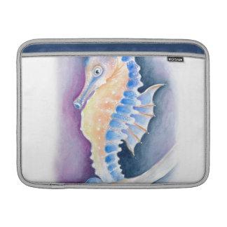 Seahorse Watercolor Art MacBook Sleeve