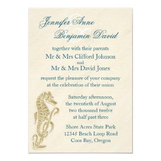 Seahorse Wedding Invitation