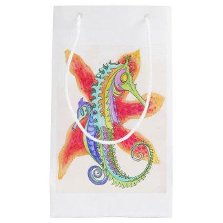 seahorses and starfish gift bag