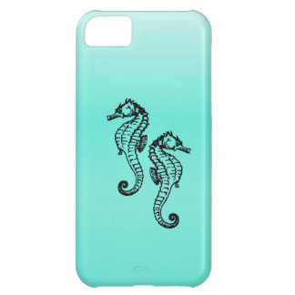 Seahorses Aqua iPhone 5C Covers