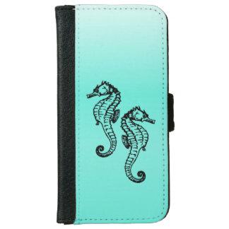 Seahorses Aqua iPhone 6 Wallet Case
