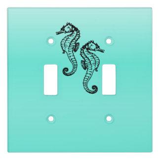 Seahorses Aqua Light Switch Cover