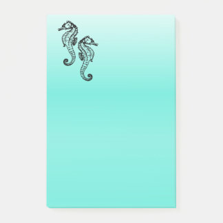 Seahorses Aqua Post-it Notes