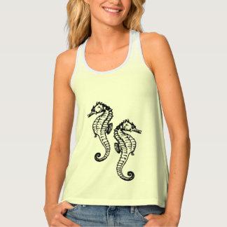 Seahorses Aqua Tank Top