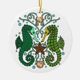 Seahorses Ceramic Ornament