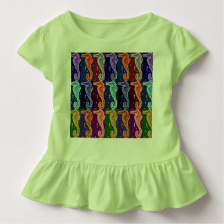 Seahorses on Green Toddler T-shirt