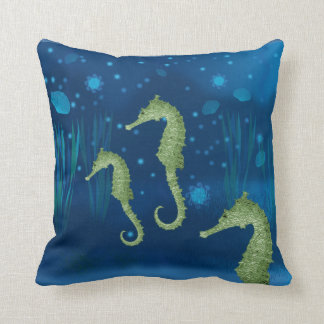 Seahorses Throw Pillow