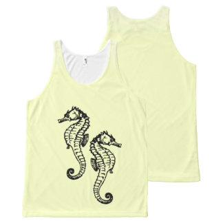 Seahorses Yellow All-Over-Print Tank Top