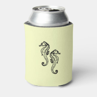 Seahorses Yellow Can Cooler