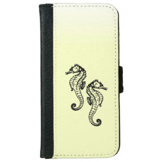 Seahorses Yellow iPhone 6 Wallet Case