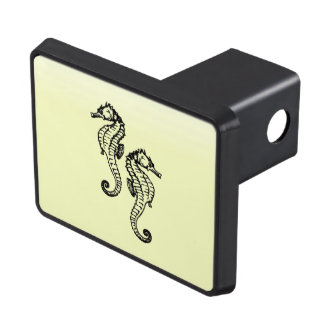 Seahorses Yellow Trailer Hitch Cover