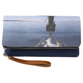 """Seaking the Horizon"" Sail Boat Clutch"