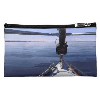 """Seaking the Horizon"" Sail Boat Makeup Bag"