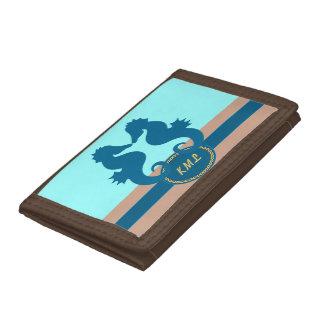 SeaKiss Monogrammed Tri-fold Wallet