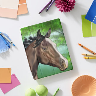 Seal Bay Thoroughbred Horse iPad Cover
