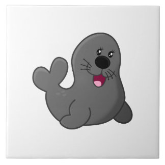 Seal cartoon tile