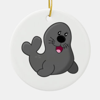 Seal Ceramic Ornament
