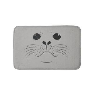 Seal face silhouette bath mat