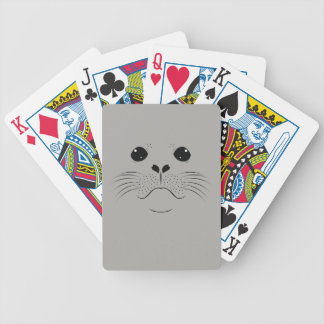 Seal face silhouette bicycle playing cards