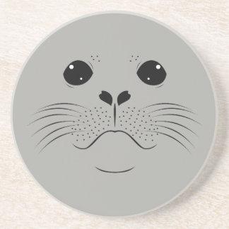 Seal face silhouette coaster