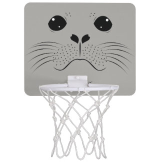 Seal face silhouette mini basketball hoop
