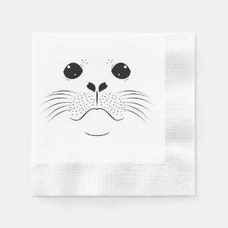 Seal face silhouette napkin