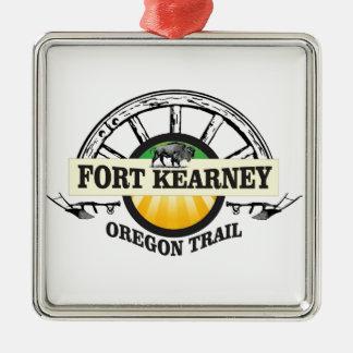seal fort kearney metal ornament